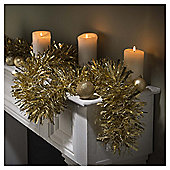 Festive 2M X 150Mm Premium Luxury Dot Foil Garland Gold