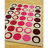 Origin Red Metro Plum Rug - 120cm x 60cm