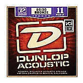 Dunlop DAB1506 Acoustic 20/80 Brass Med Light