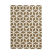 Think Rugs Hong Kong Beige/Cream Tufted Rug - 80 cm x 150 cm (2 ft 8 in x 4 ft 11 in)
