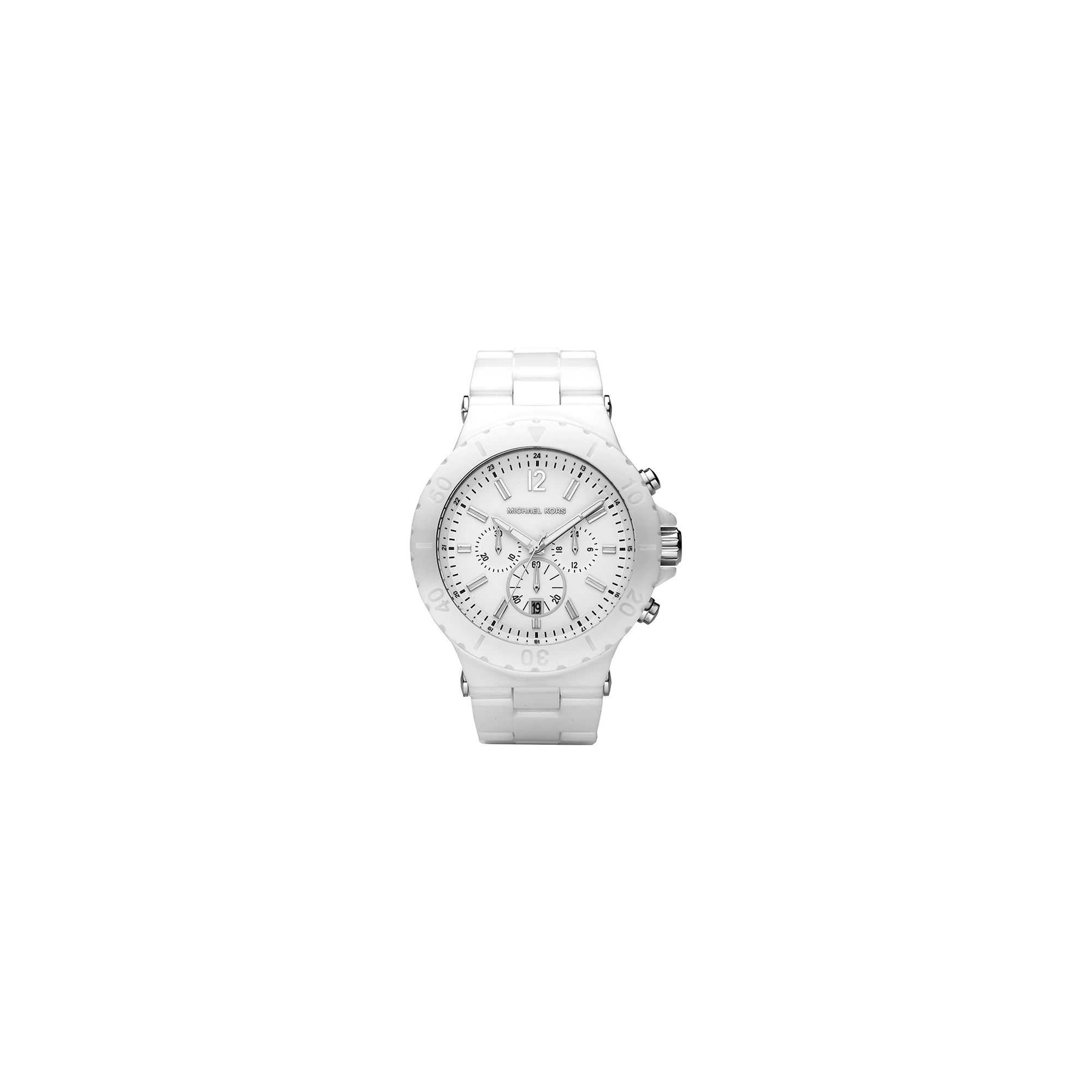 Michael Kors Unisex Ceramic Chronograph Watch MK8177 at Tesco Direct