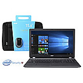 "Acer ES1-571 15.6"" Intel Core i3 8GB RAM 2TB HDD Laptop Bundle with Mouse, Bag and McAfee Internet Security 2016-Tesco Exclusive"