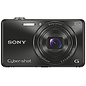 "Sony DSC-WX220 Digital Camera, Black, 18.2MP, 10x Optical Zoom, 2.7"" LCD Screen, Wi-Fi"