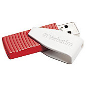 Verbatim Swivel USB Flash Drive 16GB - Red
