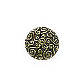 Dill Buttons 28mm Domed Swirly Gold
