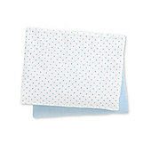 B Baby Bedding Jersey Fitted Cot Bed Sheets- 2 Pack Blue Size cot bed