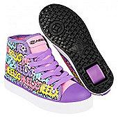 Heelys Veloz Pink/Lilac/Bubble Print Kids Heely Shoe - Purple