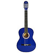 Rocket Full Size Classical Spanish Guitar - Blue