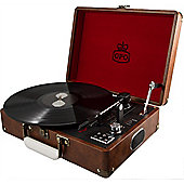GPO Attache Suitcase Turntable, Vintage Brown
