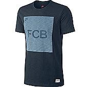 2013-14 Barcelona Nike Covert Block Tee (Navy) - Navy