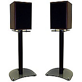 Pair of 500mm Speaker Stands with Smoked Base