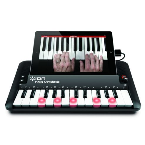 Ion Piano Apprentice keyboard for iPad, iPhone and iPod - Black.
