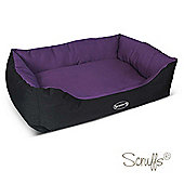 Scruffs Expedition Water Resistant Box Dog Bed 90cm x 70cm Plum