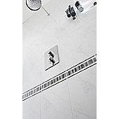 Elgin Marble Black/White Ceramic Border 248x80mm