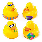Seaside Rubber Ducks (Pack of 4)