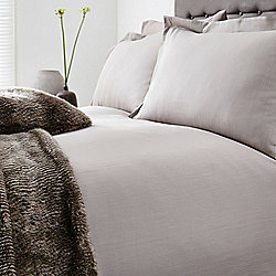 Casa Couture Smart Herringbone Double Duvet Cover