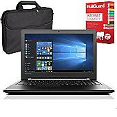 "Lenovo Ideapad 300 80Q7009FUK 15.6"" Laptop With BullGuard Internet Security & Case"