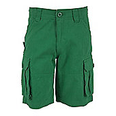 Cargo Kids Multi Pockets 100% Twill Cotton Sporty Outdoor Shorts - Green