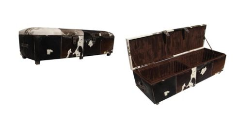 Jadeed Interiors Double Cowhide Ottoman