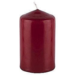 Red Unfragranced Small Pillar Candle