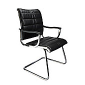 Eliza Tinsley Chrome Canti framed leather effect visitors chair