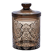 Damask Glass Storage Jar