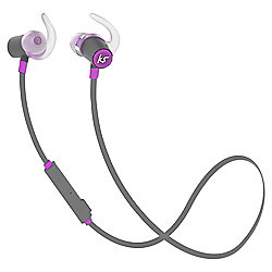 KitSound Outrun Water-Resistant Bluetooth Wireless Sports In-Ear Headphones - Purple