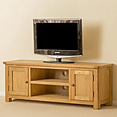 Roseland Oak Large TV Stand - Waxed Oak