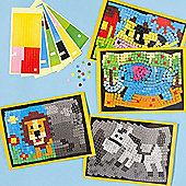 Kids Crafts Animal Mosaic Masterpieces (Pack of 4)