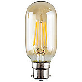 Vintage 4W LED Filament Amber Tubular Lightbulb BC B22 - Warm White