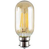 Vintage 4W LED Filament Amber Tubular Lightbulb BC B22 - Warm White
