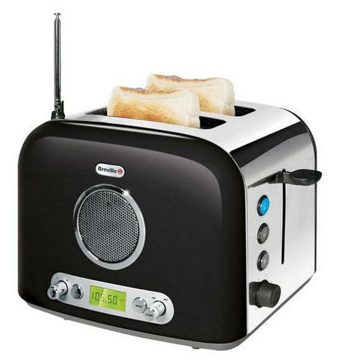 Breville VTT296 2 Slice Toaster With Integrated Radio (Black)