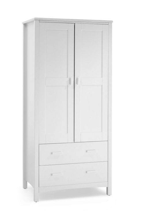Serene Furnishings Eleanor 2 Door Wardrobe - Opal White