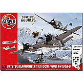 AIRFIX A50171 Dogfight Doubles Gift Set Beaufighter Fw190 1:72 Air Model Kit