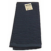 Now Designs Single Ripple Kitchen Tea Towel, Indigo Blue