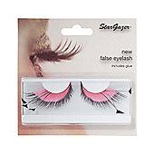 Stargazer False Feather Eyelashes No.53 Pink and Black Side Feathers