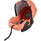 My Babiie Group 0+ Car Seat (Coral with Blue Stripes)