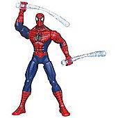 The Amazing Spiderman Web Battlers Whippin' Web-Chuk Spider-Man Figure