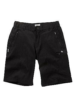 Craghoppers Mens Kiwi Prostretch Long Walking Shorts - Black