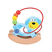 Bigjigs Toys BB073 Rocking Bead Frame (Dog)