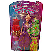 Its Girls Stuff Fashion Doll With 4 Dresses