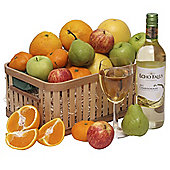 fruit basket with usa wine (FB22)