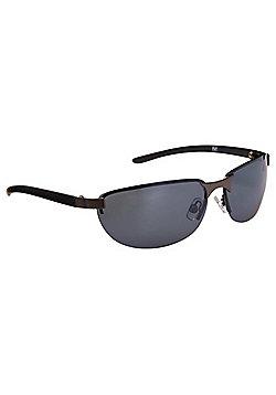F&F Rimless Slimline Sunglasses One Size Black