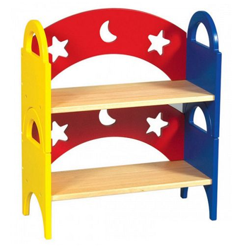 Guidecraft Moon and Stars Stacking Bookshelves