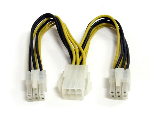 StarTech PCI Express Power Splitter Cable - 0.15m