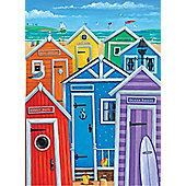 Rainbow Beach Huts - 1000pc Puzzle