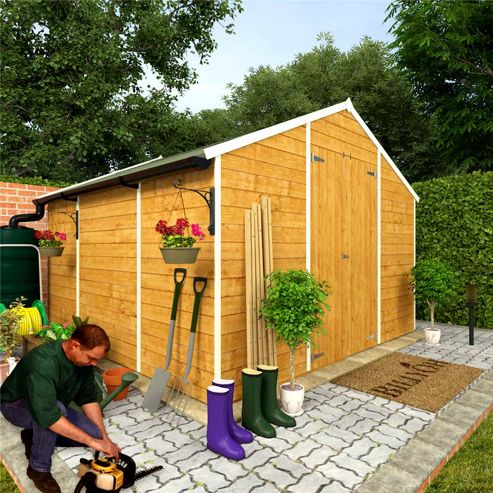 Buy billyoh 4000m windowless lincoln tongue and groove for Garden shed tesco