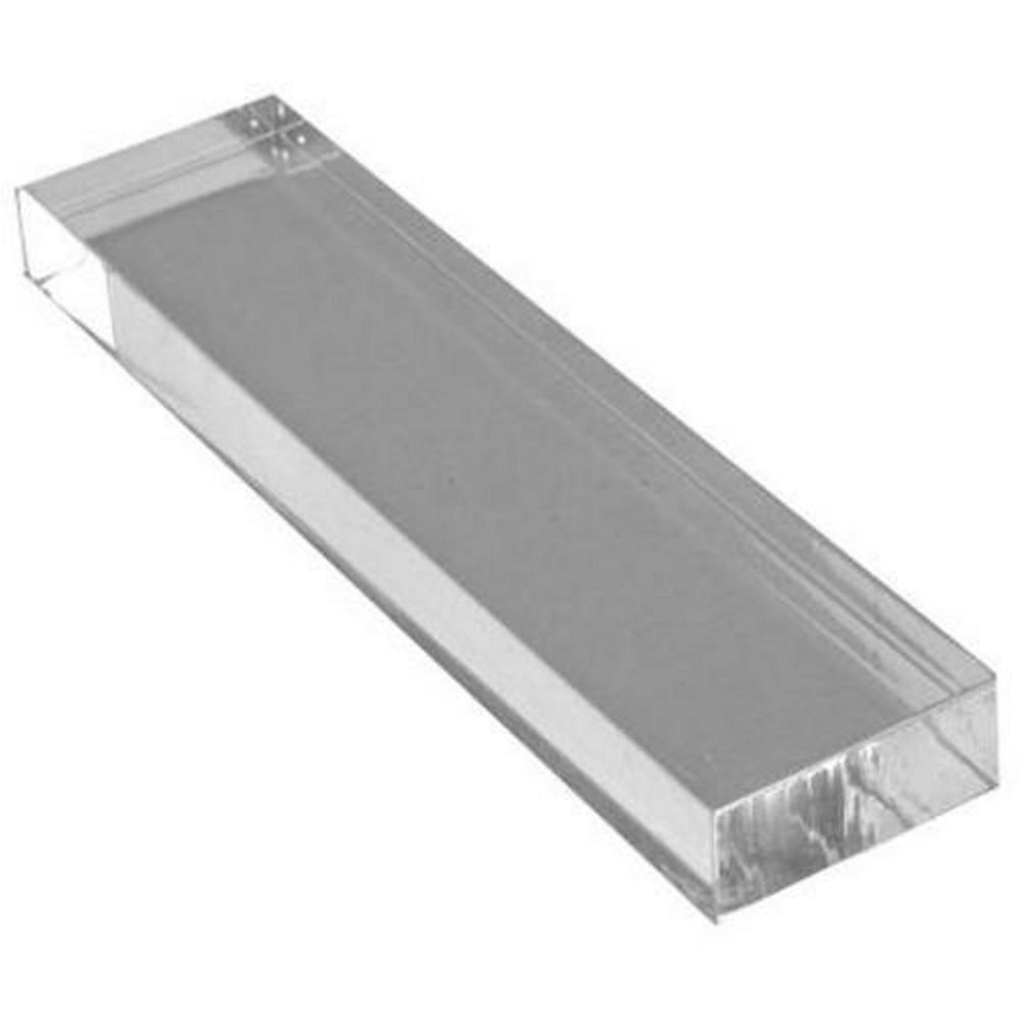Clear Acrylic Stamp Block 25mm x 102mm x 10mm deep