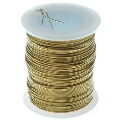 Brass Wire - 28 gauge - Gold 24yds