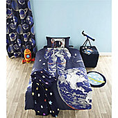Catherine Lansfield Home Kids Astronaut Multi Coloured Cotton Rich Curtains